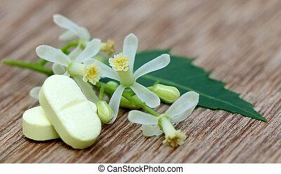 Pastillas hechas de neem medicinal