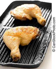 Patas de pollo asada
