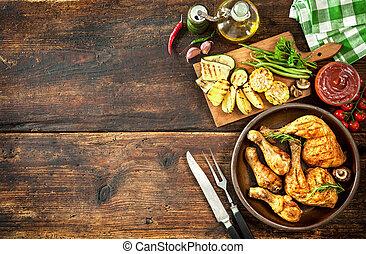 Patas de pollo asadas