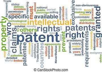 Patente concepto de fondo