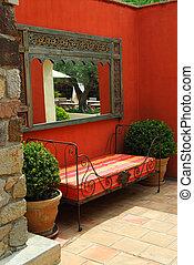 patio, chalet