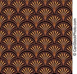 Patrón étnico floral abstracto. Ornamento estilo japonés. Ornamental oriental fondo sin costura