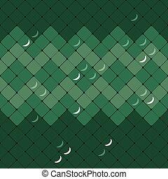 Patrón abstracto vector de piel de serpiente verde
