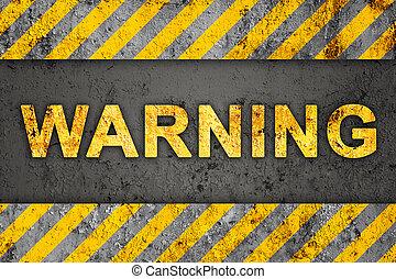 patrón, advertencia, grunge, texto