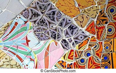 patrón, aleatorio, mosaico