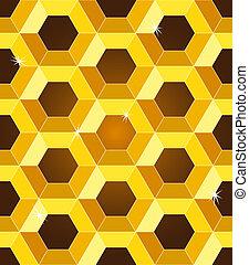 Patrón amarillo de panales amarillos sin nada