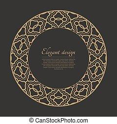 Patrón arábico circular
