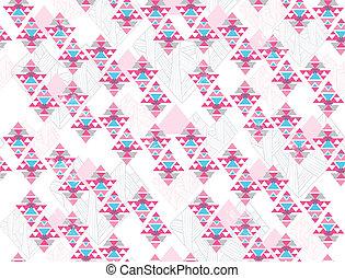 Patrón azteca sin costura geométrica