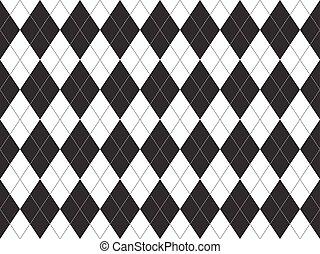 Patrón blanco blanco negro sin costura
