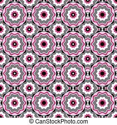 Patrón blanco-negro de color rosa
