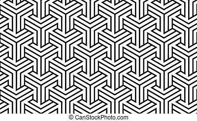 patrón, blanco, negro, geométrico