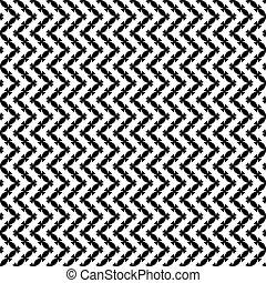 Patrón blanco-negro sin semen