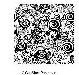 Patrón blanco y negro con círculo