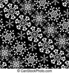 Patrón blanco y negro de Navidad
