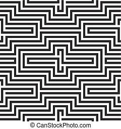 Patrón blanco y negro de zigzag