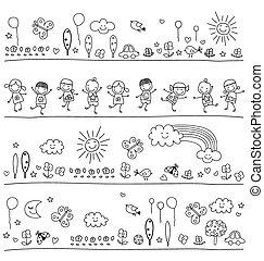 Patrón blanco y negro para niños