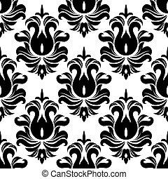 Patrón blanco y negro sin costura