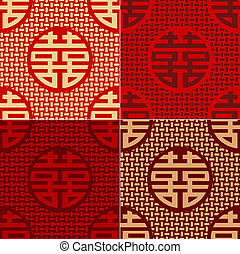 patrón, carácter, seamless, chino