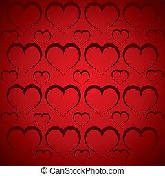 Patrón cardíaco en fondo rojo