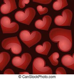 Patrón cardíaco, vector de fondo sin costura.