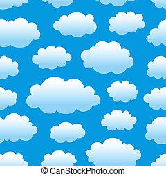 patrón, cielo, nublado
