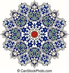 Patrón circular árabe