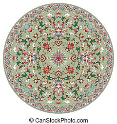 Patrón circular chino