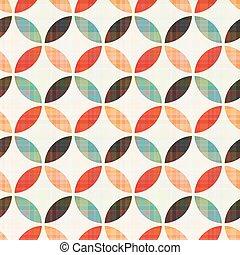 Patrón circular geométrico sin costura