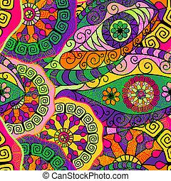 Patrón colorido sin sentido