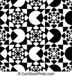 Patrón con círculo blanco y negro