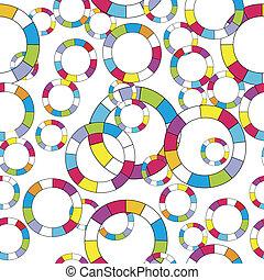 Patrón con círculos abstractos de color