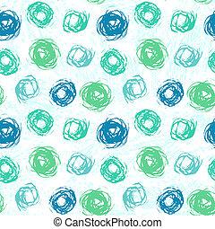 Patrón con círculos cepillados en colores primaverales