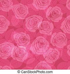 Patrón con rosas rosas rosas