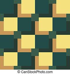 Patrón cuadrado negro y verde de fondo gris. Eps 10