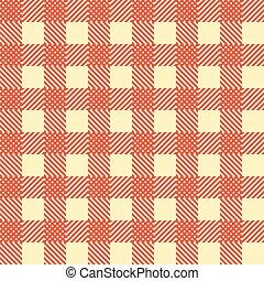 Patrón cuadrado sin costura. Trasfondo geométrico rojo. Vector
