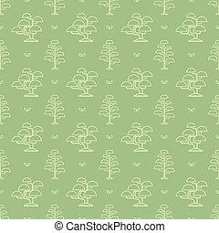 Patrón de árbol Bonsai