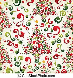 Patrón de árbol de Navidad