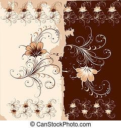 Patrón de adorno floral
