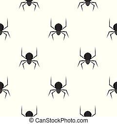 Patrón de araña negra sin costura