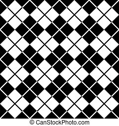 Patrón de Argyle en blanco y negro