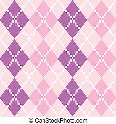 Patrón de Argyle sin costura en colores pastel ( rosa y púrpura)