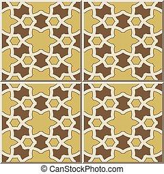 Patrón de azulejos de estrella islámica de la geometría de polígono.