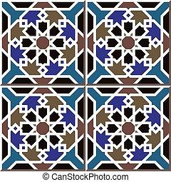 Patrón de azulejos de estrellas islámicas