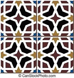 Patrón de azulejos de octágono islámico
