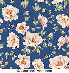 Patrón de azulejos florales.