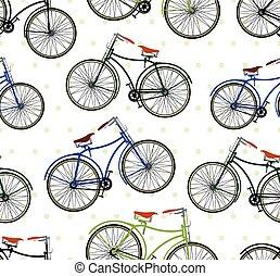 Patrón de bicicleta retro
