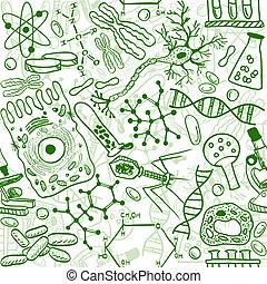 Patrón de biología sin marcas