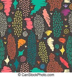 Patrón de Boho sin costura, fondo colorido