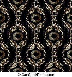 Patrón de bordado barroco. Mandala griega