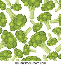 Patrón de brócoli sin costura